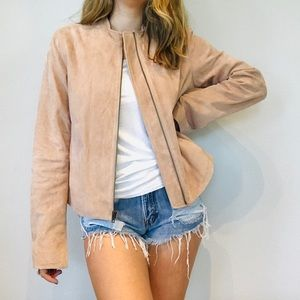 Vince lamb leather tan classic chic jacket